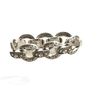 Brighton Swarovski Crystal Bracelet Silver Plated